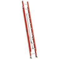 Louisville Ladder FE3220 20 Ft Fiberglass Multi-section Cap: 300 Lbs Type Ia-2