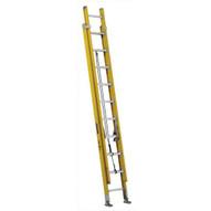 Louisville Ladder FE4220HD 20 Ft Fiberglass Multi-section Ladder D-rung Cap: 375 Lbs Type Iaa-1