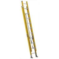 Louisville Ladder FE4620HD 20 Ft Fiberglass Multi-section Ladder Round-rung Cap: 375 Lbs Type Iaa-1