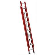 Louisville Ladder FE7220 20 Ft Fiberglass Multi-ssection Extension Ladder D-rung Cap: 300 Lbs Type Ia-1