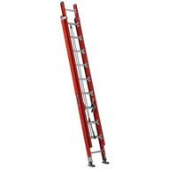 Louisville Ladder FE7620 20 Ft Fiberglass Multi-ssection Extension Ladder Round-rung Cap: 300 Lbs Type Ia-1