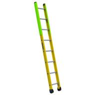 Louisville Ladder FE8908 8 Ft Fiberglass Manhole Ladder Cap: 375 Lbs Type IAA-1