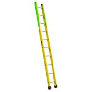 Louisville Ladder FE8910 10 Ft Fiberglass Manhole Ladder Cap: 375 Lbs Type IAA-1