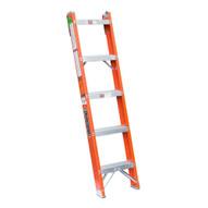Louisville Ladder FH1005 5 Ft Fiberglass Shelf Ladder Cap: 300 Lbs Type Ia-1