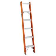 Louisville Ladder FH1006 6 Ft Fiberglass Shelf Ladder Cap: 300 Lbs Type Ia-1