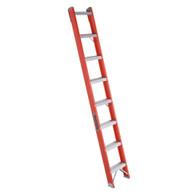 Louisville Ladder FH1008 8 Ft Fiberglass Shelf Ladder Cap: 300 Lbs Type Ia-1