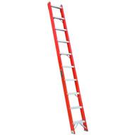 Louisville Ladder FH1010 10 Ft Fiberglass Shelf Ladder Cap: 300 Lbs Type Ia-1