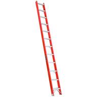 Louisville Ladder FH1012 12 Ft Fiberglass Shelf Ladder Cap: 300 Lbs Type Ia-1