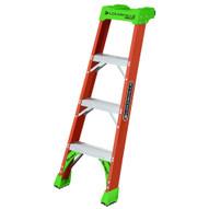 Louisville Ladder FH1504 4 Ft Fiberglass Shelf Ladder Cap: 300 Lbs Type Ia-1