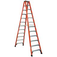 Louisville Ladder FM1412HD 12 Ft Fiberglass Twin Front Ladder Cap: 375 Lbs Type Iaa-1