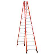 Louisville Ladder FM1416HD 16 Ft Fiberglass Twin Front Ladder Cap: 375 Lbs Type Iaa-1