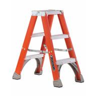 Louisville Ladder FM1505 5 Ft Fiberglass Twin Front Ladder Cap: 300 Lbs Type Iaa-2