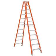 Louisville Ladder FM1512 12 Ft Fiberglass Twin Front Ladder Cap: 300 Lbs Type Iaa-2