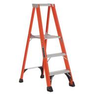 Louisville Ladder FP1403HD 3 Ft Fiberglass Platform Ladder Cap: 375 Lbs Type Iaa-1