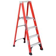 Louisville Ladder FP1404HD 4 Ft Fiberglass Platform Ladder Cap: 375 Lbs Type Iaa-1