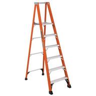 Louisville Ladder FP1406HD 6 Ft Fiberglass Platform Ladder Cap: 375 Lbs Type Iaa-1