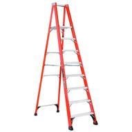 Louisville Ladder FP1408HD 8 Ft Fiberglass Platform Ladder Cap: 375 Lbs Type Iaa-1