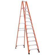 Louisville Ladder FP1412HD 12 Ft Fiberglass Platform Ladder Cap: 375 Lbs Type Iaa-1