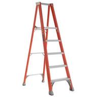 Louisville Ladder FP1505 5 Ft Fiberglass Platform Step Ladder Cap: 250 Lbs Type I-1