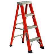 Louisville Ladder FS1304HD 4 Ft Fiberglass Standard Ladder Cap: 375 Lbs Type Iaa-2