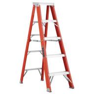 Louisville Ladder FS1305HD 5 Ft Fiberglass Standard Ladder Cap: 375 Lbs Type Iaa-1