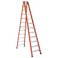 Louisville Ladder FS1312HD 12 Ft Fiberglass Standard Ladder Cap: 375 Lbs Type Iaa-1