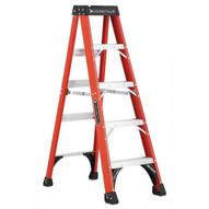 Louisville Ladder FS1405HD 5 Ft Fiberglass Standard Ladder Cap: 375 Lbs Type Iaa-1