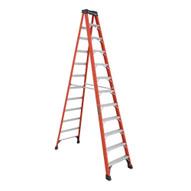 Louisville Ladder FS1412HD 12 Ft Fiberglass Standard Ladder Cap: 375 Lbs Type Iaa-1