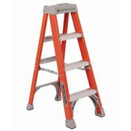 Louisville Ladder FS1504 4 Ft Fiberglass Standard Ladder Cap: 300 Lbs Type Ia-2