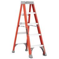 Louisville Ladder FS1505 5 Ft Fiberglass Standard Ladder Cap: 300 Lbs Type Ia-2