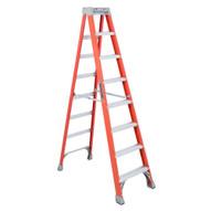Louisville Ladder FS1508 8 Ft Fiberglass Standard Ladder Cap: 300 Lbs Type Ia-1