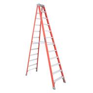 Louisville Ladder FS1512 12 Ft Fiberglass Standard Ladder Cap: 300 Lbs Type Ia-1