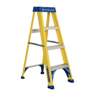 Louisville Ladder FS2004 4 Ft Fiberglass Step Ladder Cap: 375 Lbs Type Iaa-1