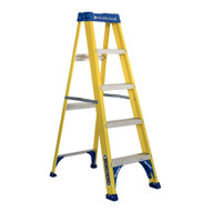 Louisville Ladder FS2005 5 Ft Fiberglass Step Ladder Cap: 375 Lbs Type Iaa-1