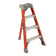 Louisville Ladder FT1504 4 Ft Fiberglass Tripod Ladder Cap: 300 Lbs Type Ia-1