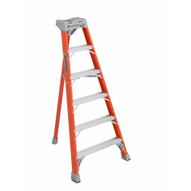 Louisville Ladder FT1506 6 Ft Fiberglass Tripod Ladder Cap: 300 Lbs Type Ia-2