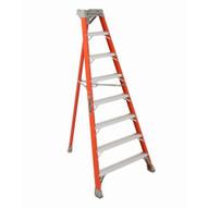 Louisville Ladder FT1510 10 Ft Fiberglass Tripod Ladder Cap: 300 Lbs Type Ia-1