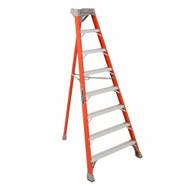 Louisville Ladder FT1512 12 Ft Fiberglass Tripod Ladder Cap: 300 Lbs Type Ia-1