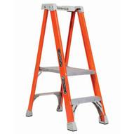 Louisville Ladder FXP1702 2 Ft Fiberglass Pro Extended Rail Protop Platform Ladder Cap: 300 Lbs Type Ia-2
