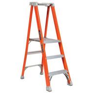Louisville Ladder FXP1703 3 Ft Fiberglass Pro Extended Rail Protop Platform Ladder Cap: 300 Lbs Type Ia-1