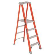 Louisville Ladder FXP1704 4 Ft Fiberglass Pro Extended Rail Protop Platform Ladder Cap: 300 Lbs Type Ia-2