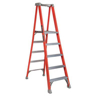 Louisville Ladder FXP1705 5 Ft Fiberglass Pro Extended Rail Protop Platform Ladder Cap: 300 Lbs Type Ia-2