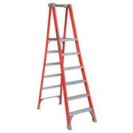 Louisville Ladder FXP1706 6 Ft Fiberglass Pro Extended Rail Protop Platform Ladder Cap: 300 Lbs Type Ia-1
