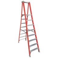 Louisville Ladder FXP1708 8 Ft Fiberglass Pro Extended Rail Protop Platform Ladder Cap: 300 Lbs Type Ia-2