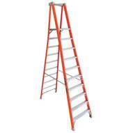 Louisville Ladder FXP1710 10 Ft Fiberglass Pro Extended Rail Protop Platform Ladder Cap: 300 Lbs Type Ia-2
