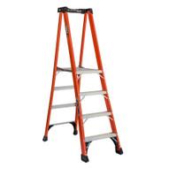 Louisville Ladder FXP1804HD 4 Ft Fiberglass Platform Ladder Cap: 375 Lbs Type Iaa-1