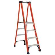 Louisville Ladder FXP1806HD 6 Ft Fiberglass Platform Ladder Cap: 375 Lbs Type Iaa-1