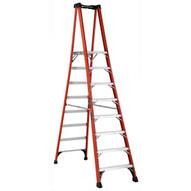 Louisville Ladder FXP1808HD 8 Ft Fiberglass Platform Ladder Cap: 375 Lbs Type Iaa-2
