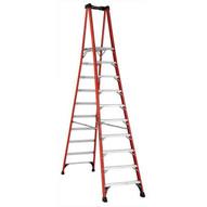 Louisville Ladder FXP1810HD 10 Ft Fiberglass Platform Ladder Cap: 375 Lbs Type Iaa-1