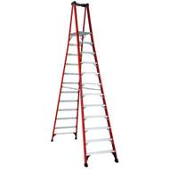 Louisville Ladder FXP1812HD 12 Ft Fiberglass Platform Ladder Cap: 375 Lbs Type Iaa-1